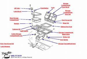 1969 Corvette 3 Door Rear Storage Compartment Parts