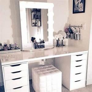Coiffeuse Blanche Ikea : coiffeuse moderne vegan coiffeuse moderne noir et blanc ~ Teatrodelosmanantiales.com Idées de Décoration