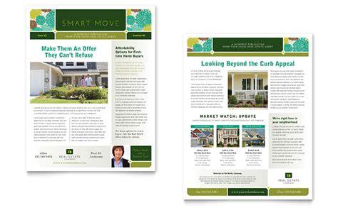 real estate newsletter templates real estate newsletter template design