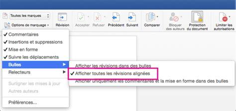 Modification En Anglais by Suivre Les Modifications Dans Word 2016 Pour Mac Word