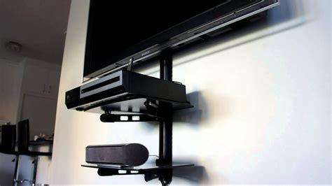 tv shelf mount tv wall mount shelf attachment