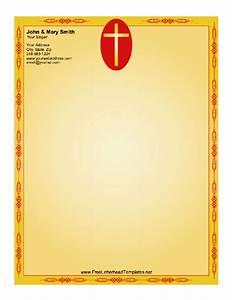 cross letterhead With christian letterhead templates free