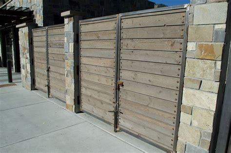 wood fence rustic  modern wood creations
