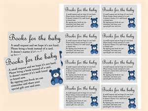 teddy baby shower favors books for the baby insert bring a book insert bring a