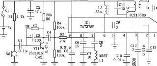Electronics Circuits Tap Wireless Microphone Circuit