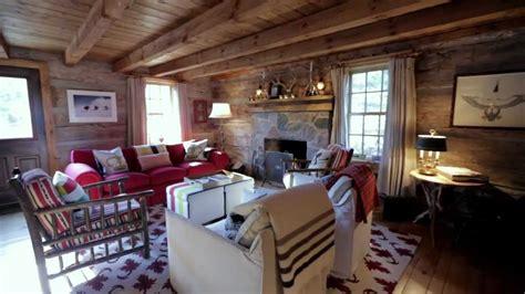 interior design cosy rustic wood ski cabin
