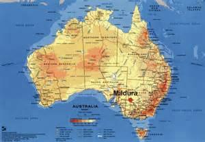 Mildura Australia Map