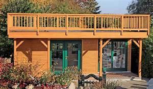 Chalet Bois Toit Plat : un chalet de jardin design et fonctionnel maison et ~ Melissatoandfro.com Idées de Décoration