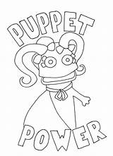 Puppet Coloring Puppets Master Colouring Fnaf Cool Mucket Wump Getcolorings Printable Getdrawings Template Characters sketch template