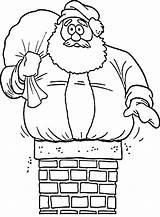 Coloring Christmas Chimney Pages Santa Stuck Father Drawing Chimneys Printable Print Sheets Printables Getdrawings Cartoon Getcolorings sketch template