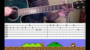 Guitar Lesson  Super Mario Theme Song  With Tabs