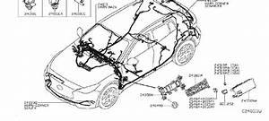 Infiniti Qx30 Clip Wiring Harness  Engine  Door  Battery