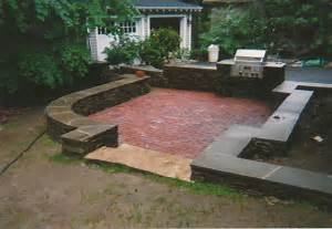 Image of: Brick Patio Wall Alan Shea Mason Contractor Brick Patio Designs For Your Garden