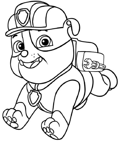 Paw Patrol Coloring Pages Rubble Coloring Pages Ideas