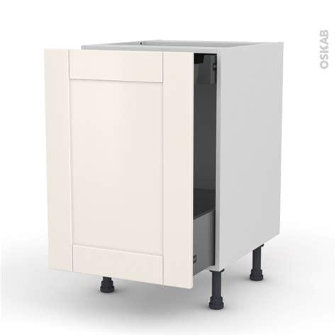 meuble cuisine tiroir coulissant meuble de cuisine bas coulissant filipen ivoire 1 porte 1 tiroir à l 39 anglaise l50 x h70 x p58 cm