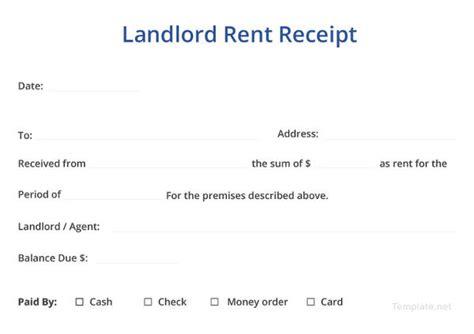 landlord rent receipt templates   premium