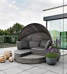 Loungemöbel Mit Dach : sonneninsel polyrattan grau im greenbop online shop kaufen ~ Sanjose-hotels-ca.com Haus und Dekorationen