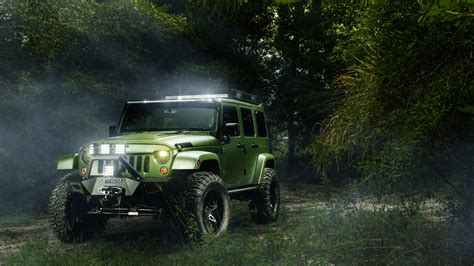 Jeep, Trees, Landscape, Off Road, Led Headlight Wallpapers