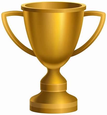 Trophy Cup Clipart Award Golden Transparent Clip