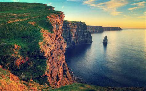 Water Sunset Landscapes Nature Rocks Ireland Cliffs Of