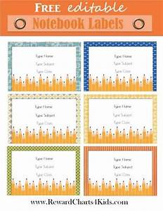 Free Personalized Kids School Labels