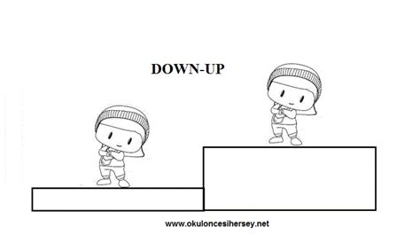 pre school education 632 | down and up opposite words worksheets for preschool children