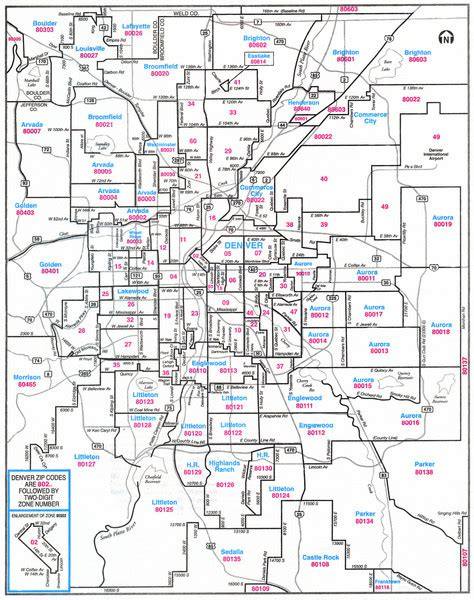 colorado springs zip code map denver colorado zip codes map denver co mappery