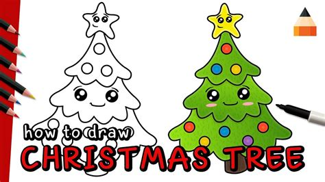 how to draw christmas tree how to draw tree drawing tree