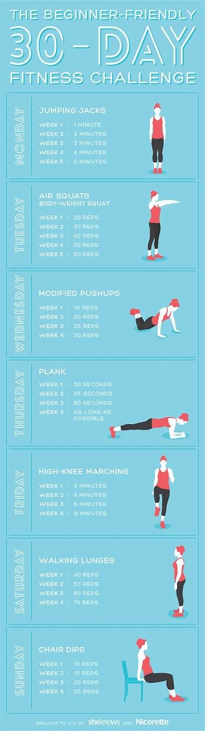 Challenge Fitness Workout Challenges Beginner Easy Workouts