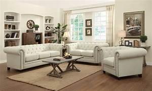 Coaster Furniture Roy Oatmeal Fabric Living Set