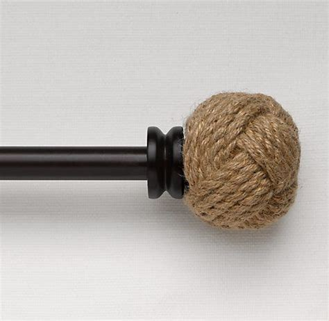 rope curtain rod restoration hardware jute rope finials whistle while