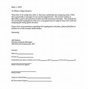 Notarized Authorization Letter Sample 32 Notarized Letter Templates Pdf Doc Free Premium