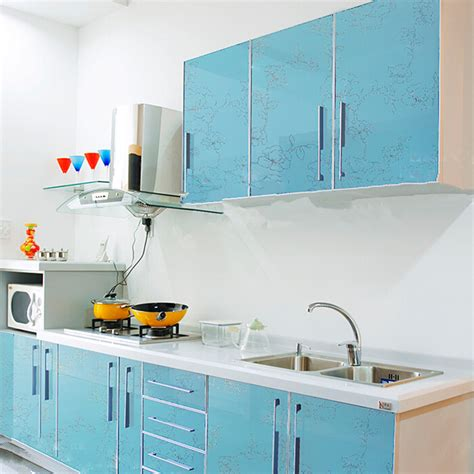 plaque murale pvc pour cuisine yazi gloss blue flower pvc waterproof wall sticker kitchen