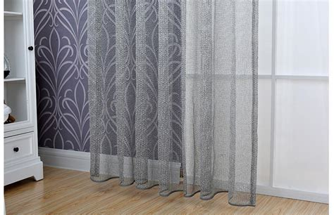 luxury lace jacquard tulle window curtains  living