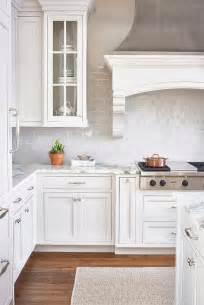 backsplash in white kitchen white and gray kitchen with light gray mini subway tiles transitional kitchen