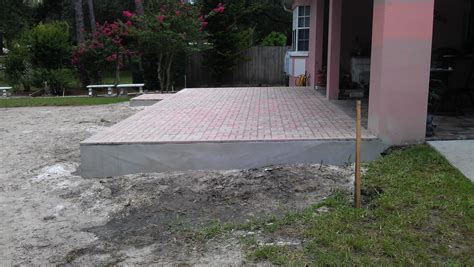 new patio extension overlay thin pavers temple terrace