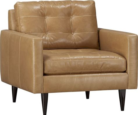 crate barrel petrie leather chair gearculture