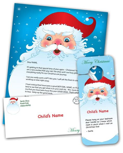 print   personalized letter  santa   child