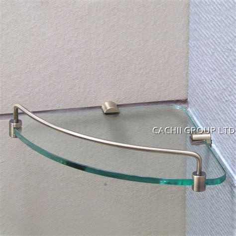 glass corner shower shelf antique brass single layer shower room storage glass corner shelf wall mount shelves jpg