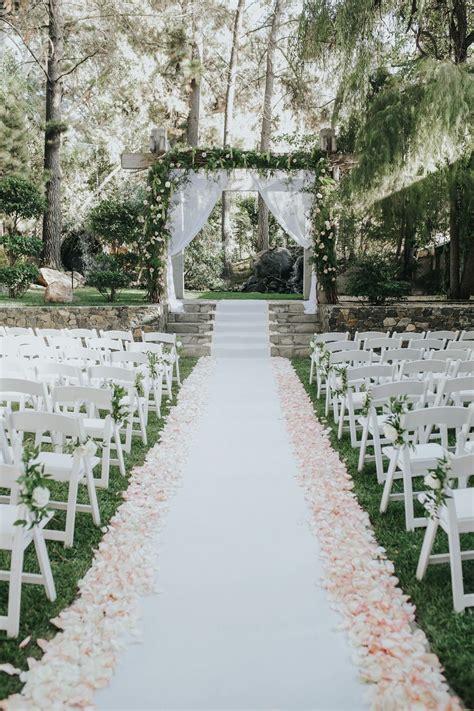stylish outdoor wedding aisle decor ideas chicwedd