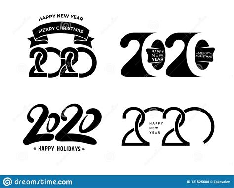 big set text design pattern collection happy year