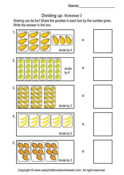 division worksheets using pictures simple division worksheet worksheets for all and worksheets free on