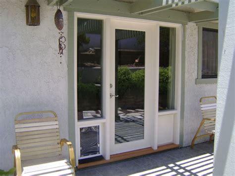 Painted Backsplash Ideas Kitchen - patio doors with built in dog door