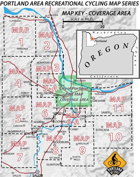 portland area recreational cycling maps recreational