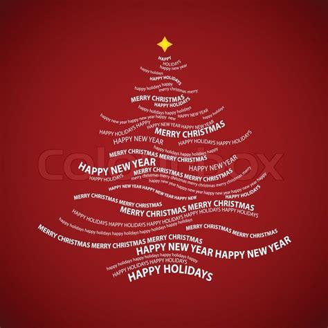 weihnachtsbaum form von worten typografische