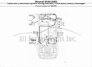 Buy Original Maserati Ghibli  Abs  059 1 Electrical System Wiring Harness  Trunk Boot  Doors