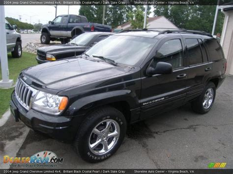 dark gray jeep grand cherokee 2004 jeep grand cherokee limited 4x4 brillant black