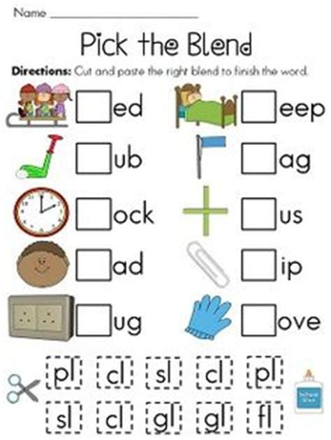 blends cut and paste worksheets so to practice 406 | e1aec5fbe8d798196ea7c7cfc861a27f