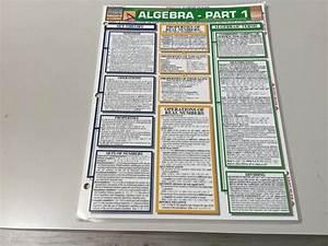 Details About Algebra Part 1 U2026barcharts Quick Study Guide