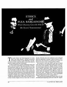 Ethics And Plea Bargaining